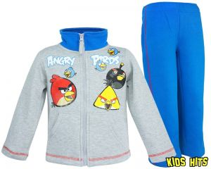 "Dres Angry Birds ""Angry Team"" szary 10 lat"
