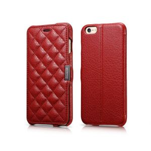 Etui iCarer Check Apple iPhone 6 Plus / 6S Plus Czerwone - Czerwony
