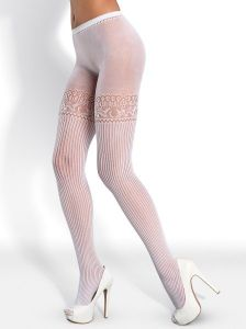 Obsessive T307 Tights white Rajstopy